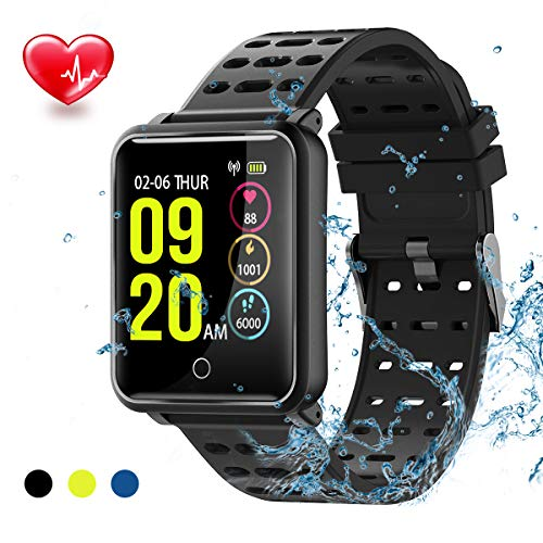 TagoBee TB06 IP68 Waterproof Bluetooth SmartWatch HD Touch Screen Fitness Tracker Support Blood Pressure Heart Rate Sleep Monitoring Step Counter Compatible with Android and IOS