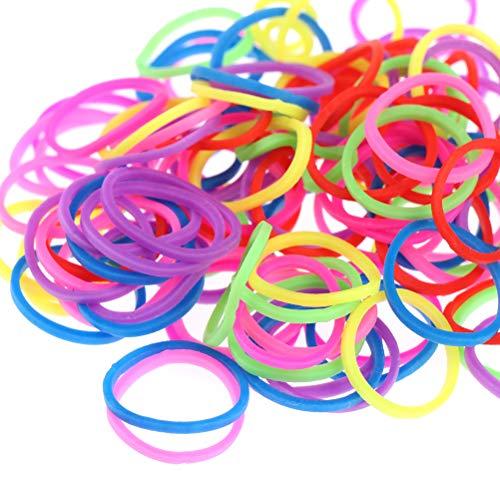 Juego de 1200+ bandas de telar de colores arcoíris con gancho y hebillas en S, para hacer pulseras, kit de recambio para manualidades, kits de bandas de goma