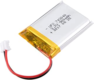 uxcell Power Supply DC 3.7V 900mAh 743040 Li-ion Rechargeable Lithium Polymer Li-Po Battery
