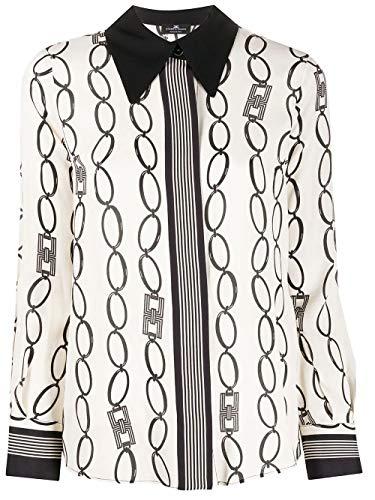 Elisabetta Franchi Luxury Fashion Donna CA25801E2E84 Bianco Camicia  