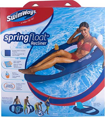 SwimWays Spring Float Recliner, Wasserliegestuhl, farblich sortiert