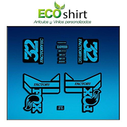 Ecoshirt 7Z-0MDP-MTPP Adesivi Fork Factory Fox 40 2016 R289 Adesivi Aufkleber Decals Adesivi Grigio