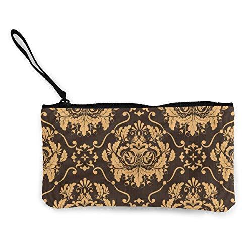 Münzbeutel, viktorianisches Muster, Segeltuch, Münzfach, Handy, Kartentasche mit Griff und Reißverschluss