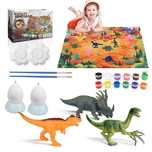 Achort Dinosaurio Pintar Juegos para Niños Dinosaurio Figuras para Pintar Manualidades Pintar Creativo DIY Dinosaurio Navidad Regalos Manualidades DIY Graffiti Toy para Niños