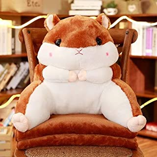Candice Guo Plush Toy Stuffed Doll Cartoon Animal Amuse Fat Hamster Chair Waist Pillow Cushion Hand M Blanket Office Rest 1Pc Thing You Must Have 5 Year Old Girl Gifts Girl S Favourite Superhero