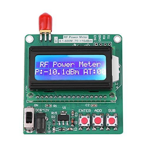 Misuratore di potenza RF da 6~12V, misuratore di potenza RF LCD digitale -75~16 dBm 1-600MHz -75~16 dBm 1-600MHz Frequenzimetro Attenuatore Frequenza radio Valore di attenuazione