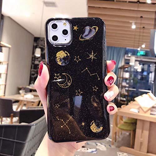 LIMITED Bling Luna Planeta Estrellas Teléfono Caso para iPhone 11 11Pro MAX XS MAX XR X 6S 6 7 8 Plus Cubierta Fundas De Dibujos Animados (Style 2,For iPhone XS MAX)