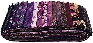 Bali Batiks Napa Bali Poppy 20 2.5-inch Strips Jelly Roll Hoffman Fabrics BPP-287-Napa