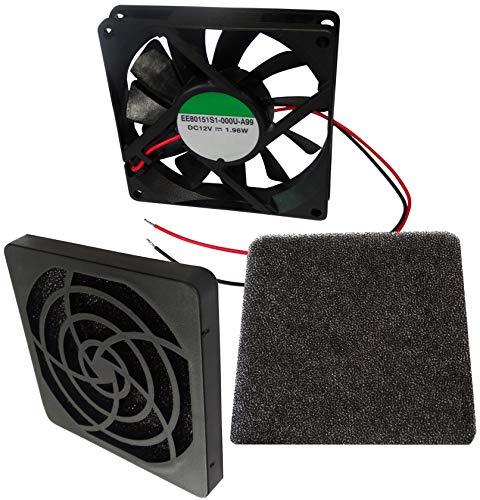 AERZETIX - Ventilador para Caja de Ordenador PC - Rejilla - Filtro - 80x80x15mm - 3000RPM - C12321A