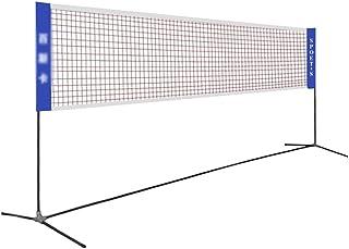 Badminton Net Set, Simple Folding Badminton Net Rack Tennis Volleyball Net Badminton Training Mesh, Height Adjustable, for...