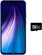 "$203 » Xiaomi Redmi Note 8 (128GB, 4GB) 6.3"",Quad Camera, Dual SIM GSM Factory Unlocked - US & Global 4G LTE International Version (Neptune Blue, 128GB + 64GB SD + Case Bundle)"