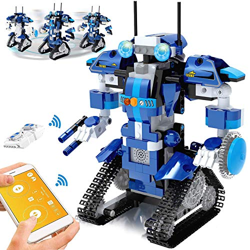 Yerloa Robot Building Kits for Kids, Building Blocks Robot,STEM Remote Controlled Building Toys Kits Educational Learning Science STEM Projects for Kids Ages 8-12