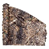 Auscamotek 300D 2 Sides Printing Duck Blind + Deer Hunining Camo Netting Camouflage Net Blinds Material for Ground Portable Blind Hunting Chair Umbrella Treestands- 5x6.5 Feet