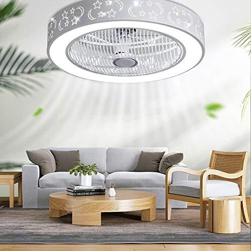 Lámpara de techo con mando a distancia, moderna, ventilador de techo con iluminación, regulable, temporizador, lámpara de techo para salón, habitación de los niños, dormitorio