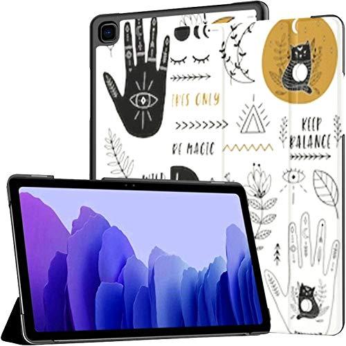 Funda para Tableta Samsung A7 Juego étnico Manos Luna Cristales Funda de Cuarzo para Samsung Galaxy Tab A7 10,4 Pulgadas Funda Protectora de liberación 2020 Funda Samsung Galaxy A7 Funda para Tableta