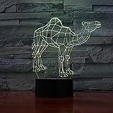 Noël Dromadaire chameau nuit lampe 3D Illusion décoratif lumière enfant enfants fille cadeau animaux chameau bureau LED nuit lumière chevet décor