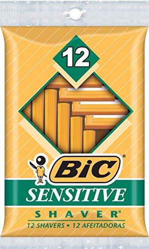 BIC Sensitive Shaver Men's Single Blade Disposable Razor