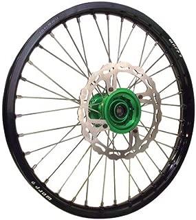 Warp 9 Complete Wheel Kit - Rear 19 x 2.15 Black Rim/Green Hub/Silver Spokes and Nipples for Kawasaki KX450F 2006-2018