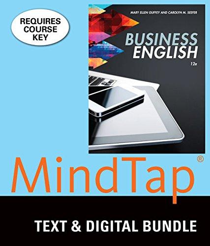 Bundle: Business English, Loose-Leaf Version, 12th + MindTap Business Communication, 1 term (6 months) Printed Access Ca
