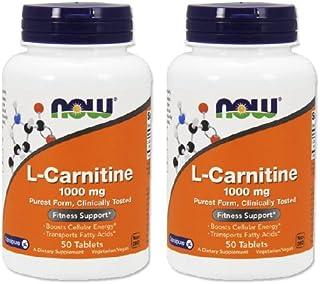 【2個セット】 [海外直送品] NOW Foods L?カルニチン 1000mg 50粒 L-carnitine 1000mg