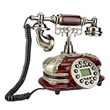 Mugast MS-5500A Retro Wired Telephone,Automatic IP Antique Vintage Style Corded Desk Landline Phone with Automatic Detection of FSK and DTMF Caller ID for Home Office Hotel Decoration