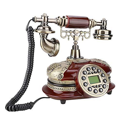 VBESTLIFE Antikes schnurgebundenes Telefon, MS-5500A-Harz-Retro- europäisches Überlandleitungs-Schreibtisch-Telefon dekorativ für Haupthotelbüro