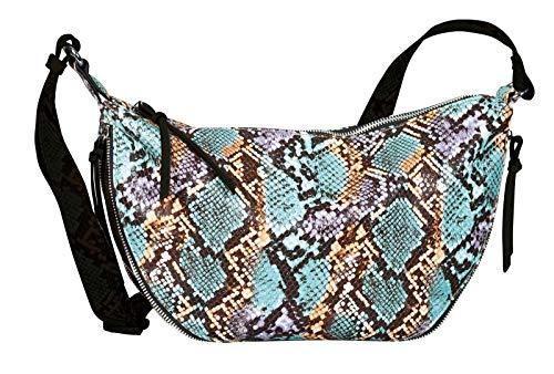 TOM TAILOR Denim Umhängetasche Damen, Beige, Cancun, 34x6x23 cm, Schultertasche, Handtasche, snake