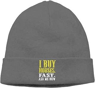 Riokk az Skull Caps Knit Hats I Wanna Buy A House Winter Soft Cotton for Men's Daily DeepHeather
