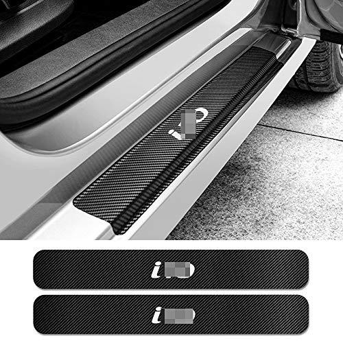 JNSMQC Auto 4PCS Türschwelle Abnutzungsplatte Türschutz Aufkleber Auto Carbon Faser Aufkleber Auto Tuning Zubehör. Für Hyundai i10
