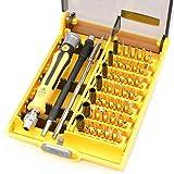 SRRDZ Destornillador de 45 Piezas Destornillador Destornillador Torneador de precisión Cruzada Herramientas de reparación Multifuncional