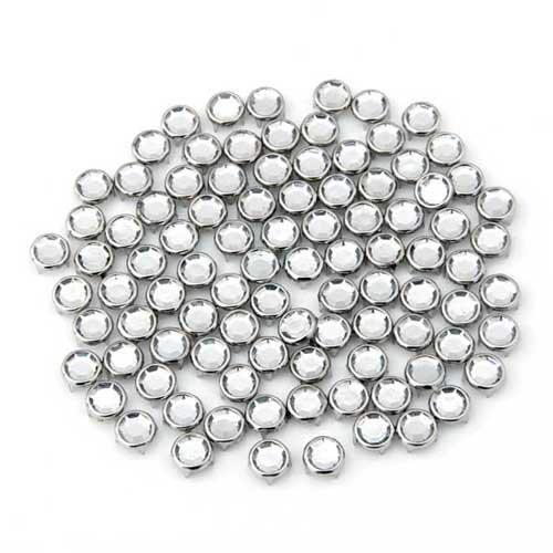 Ecloud Shop® 2 Pieces 100X Apliques Remaches Metal Circonita 8mm Redondo Studs...