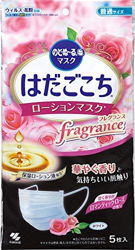 のどぬ~る はだごこちローションマスク フレグランス ロマンティックローズの香り 普通サイズ (ウィルス・花粉対策)5枚