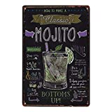 Dosige Retro Blechschild How to Make a Classic Mojito