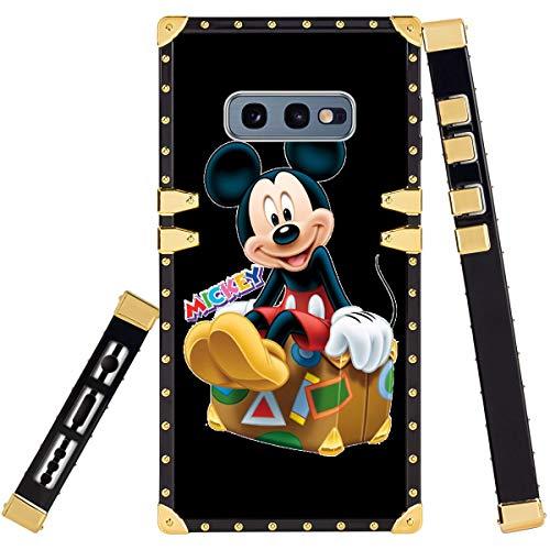 DISNEY COLLECTION Carcasa cuadrada para Samsung Galaxy S10e, diseño de Mickey Mouse de Disney, a prueba de golpes