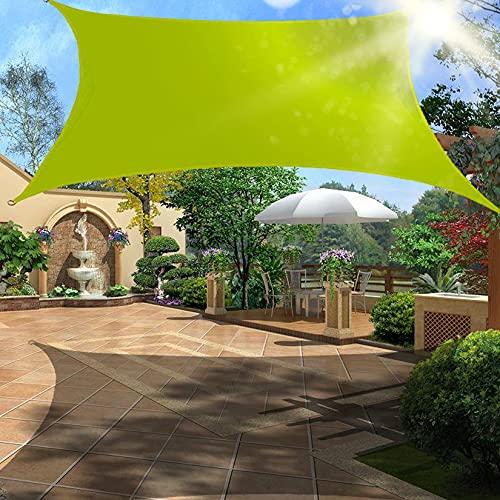 Rectángulo de vela de protección solar rectángulo de vela de protección solar impermeable toldo a prueba de viento toldo resistente a los rayos UV con kit de herrajes para cochera de pati