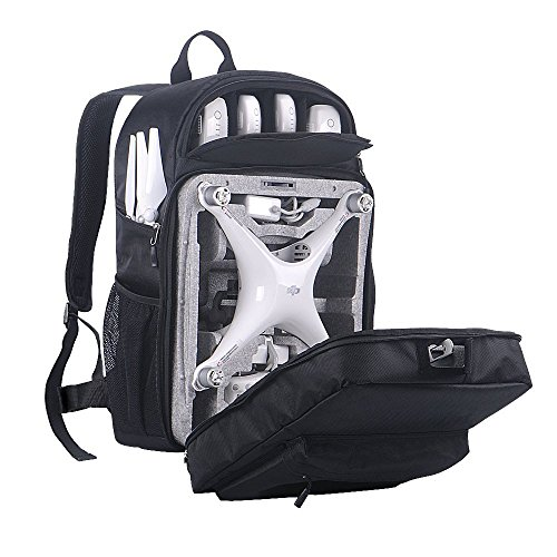Smatree Hard Shell Backpack Compatible for DJI Phantom 4/4 Pro (Original Styrofoam Case, Phantom 4 Battery, Propellers Not Included)