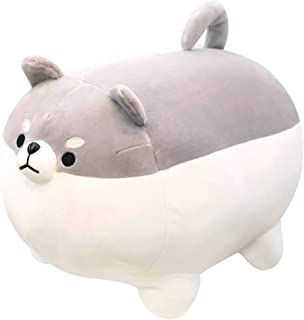 Auspicious Beginning Stuffed Animal Shiba Inu Plush Toy Anime Corgi Kawaii Plush Soft Pillow Doll Dog, Plush Toy Best Gifts for Girl Boy (Gray, 15.7