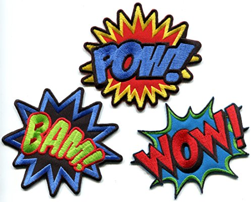 Lot of 3 POW! WOW! BAM! superhero comics retro fun...