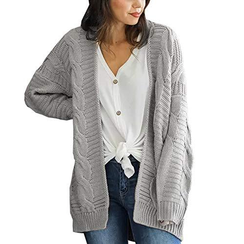 Covermason Tricot Cardigan Femme Automne Hiver à Manches Longues Casual en Tricot Manteau Pull Sweater Veste Top Manteau