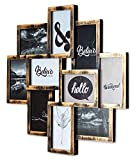 levandeo Bilderrahmen Collage 50x55cm Kupfer Schwarz Industrial Industrie 10 Fotos