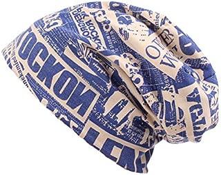 ZJSWIN Letter Baotou hat, Knit hat, Autumn and Winter, Headgear, Warm hat, Male hat (Color : Light Blue, Size : 58-60cm)