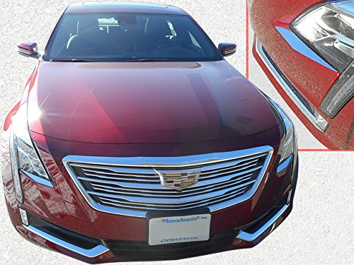QAA fits 2016-2018 Cadillac CT6 2 Piece Stainless Head Light Accent Trim HL56230