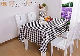 Yllang Linge de Table à Carreaux Nappe rectangulaire for la Table Housse de Table à Manger décoration Maison Moderne Rouge...