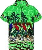 Funky Camisa Hawaiana, Parrot, Verde, M