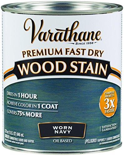 Wood Stn Worn Navy Qt