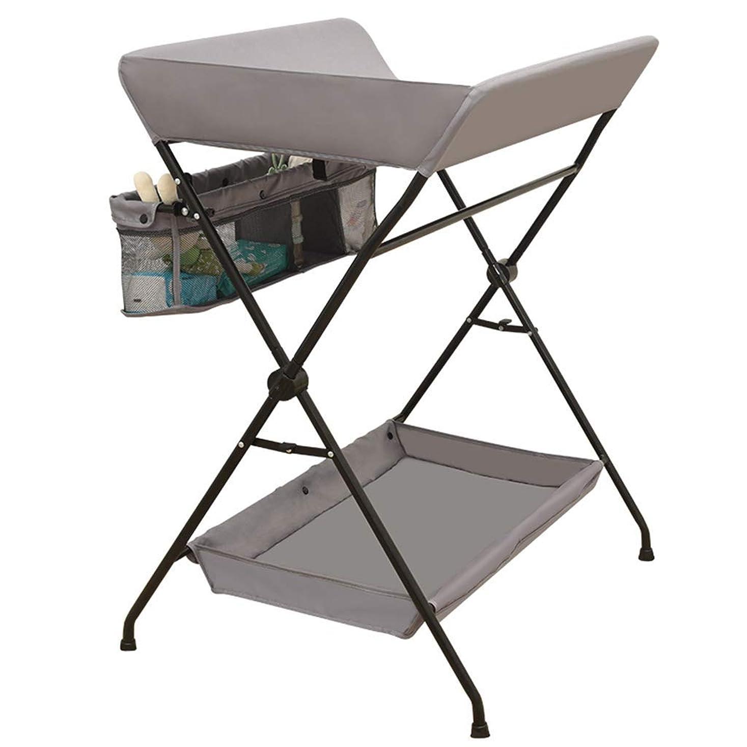 やさしい手首トラブルグレーの折りたたみ式小テーブル収納、幼児用保育園更衣ステーションドレッサーオーガナイザー