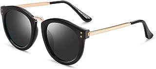 Classic Mirroed Women Aviator Sunglasses PARZIN Men Dark Shades with UV400 Protection, Metal Frame & Eyewear Pouch PZ9101