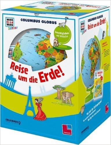"""WAS IST WAS Junior Columbus Globus \""""Reise um die Erde!\"""" (WAS IST WAS Junior Edition) von Columbus Verlag Paul Oestergaard GmbH Krauchenwies und Ragnar Tessloff GmbH & Co. KG Nürnberg (Herausgeber) ( Globe, September 2013 )"""