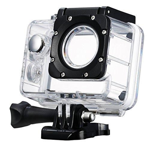 Actioncam Carcasa Sumergible, vtin hasta 98Ft 30m bajo el agua la carcasa carcasa resistente al agua funda carcasa accesorios de cámara para SJ4000y sj4000WiFi Cámara de acción de cámara