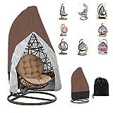 Chytaii - Funda de sillón colgante para silla, funda de protección para huevos, silla, funda de sillón basculante, resistente al agua y al polvo (doble
